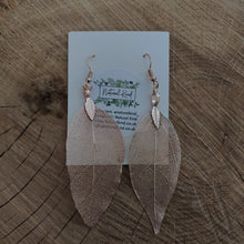 Load image into Gallery viewer, Rose Gold Leaf Earrings