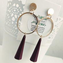 Load image into Gallery viewer, Autumn Purple Earrings