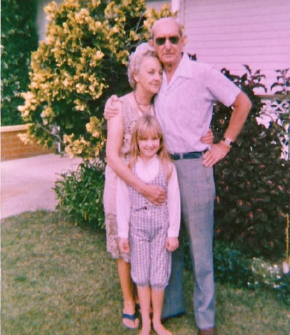 Emma with her grandmother Haidee and her grandfather