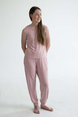 tween teen girls pyjamas PJs long pants pink front comfy super soft VSCO sleepover mix and match