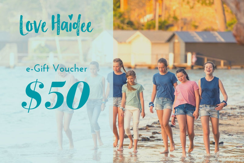 gift voucher girls clothing and pyjamas Love Haidee $50