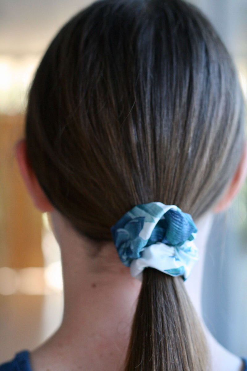 girls scrunchies Australia | floral dreaming print