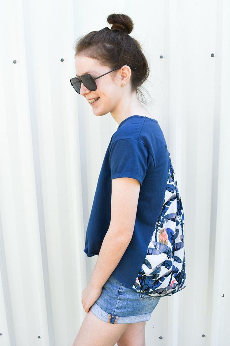 Teen Girls Luxe Printed Top | Banana Leaf Palms