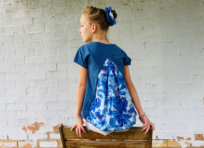 Teen Girls Luxe Printed Top | Indigo Jungle