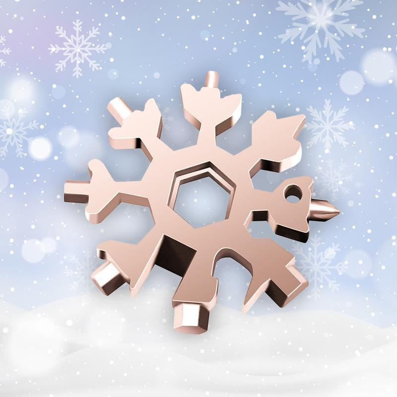 18-in-1 stainless steel snowflakes multi-tool - Christmas Gift