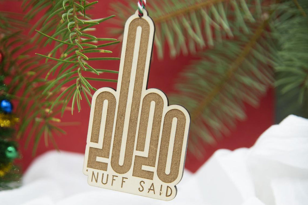 2020 Middle Finger Christmas Ornament