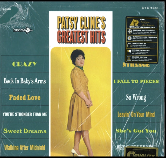 Patsy Cline - Patsy Cline's Greatest Hits (200 Gram) - Morrow Audio Records