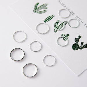 Simple Joint Rings Set