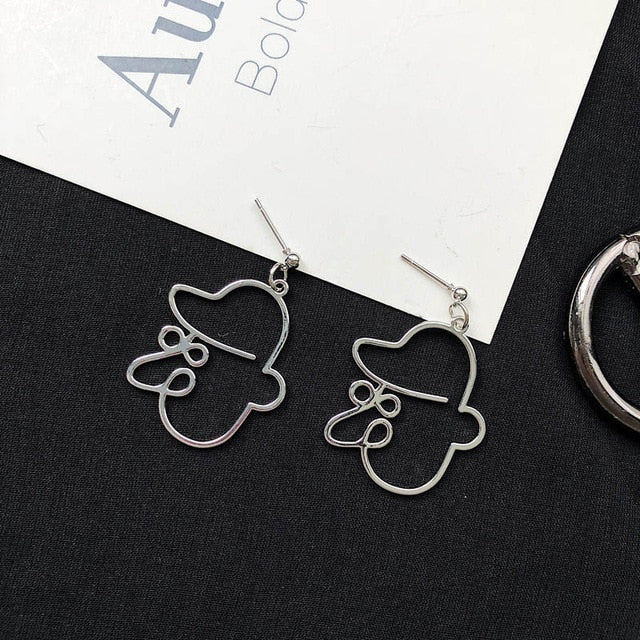 Abstract Face Earrings