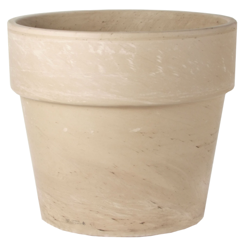 Ceramo White Marble Granite Calima Pot