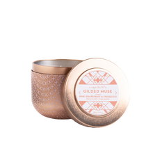 Load image into Gallery viewer, Capri Blue Pink Grapefruit & Prosecco Gilded Muse Tin Candle