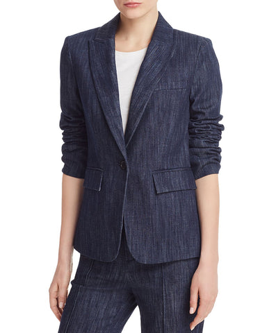 Anilah Denim Blazer in Dark Indigo