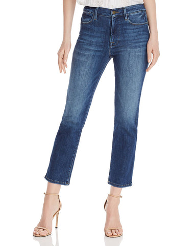 Le High Ankle Straight-Leg Jeans in Bestia