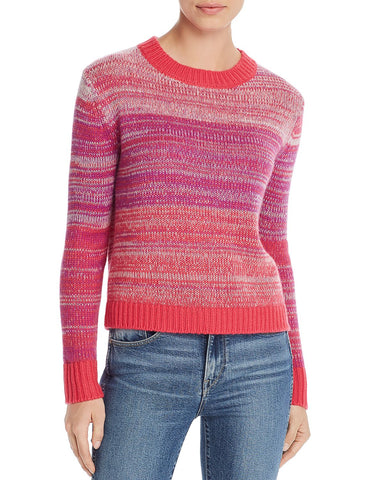 Melange Cashmere Sweater in Pink Multi