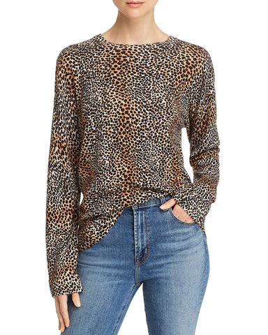 Raydon Cheetah Print Sweater in True Black Multi