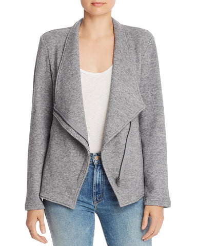 Off The Clock Brushed Knit Jacket in Heather Gray