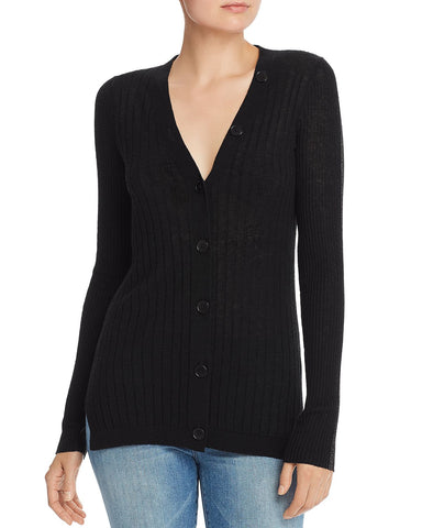 Brinleigh Wool-Blend Cardigan in Caviar