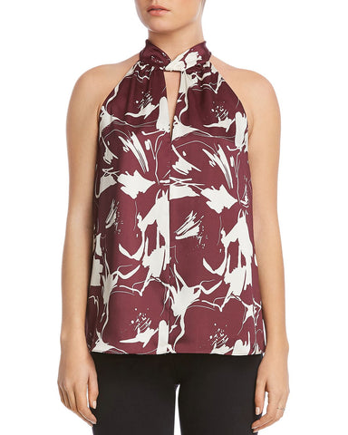 Marina Mock-Neck Top in Fig