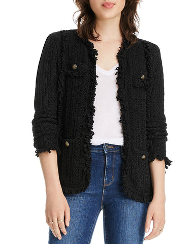 Zoe Knit Jacket in Black