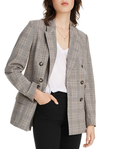 Olivia Plaid Blazer in Brown Plaid