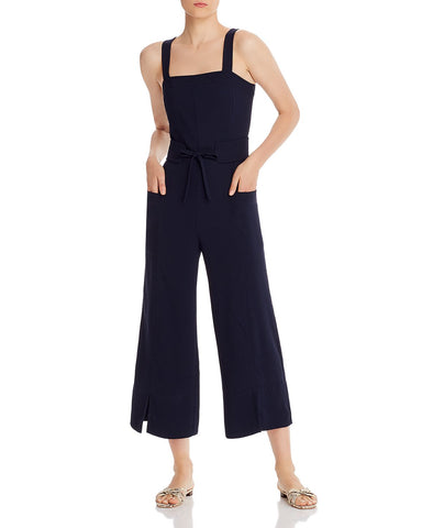 Zephrine Cropped Wide-Leg Jumpsuit in Navy