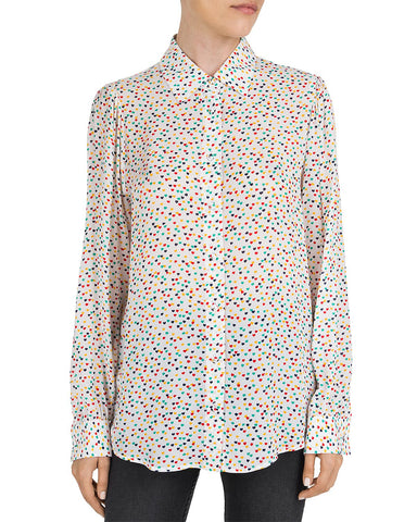 Multicolor Heart-Pattern Shirt in Multicolor