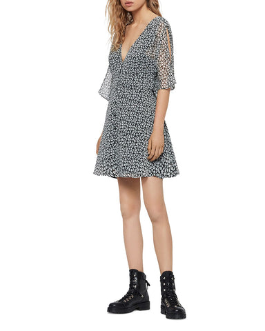 Ivey Scatter Button-Front Dress in Gray