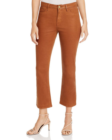 Le Cropped Mini Boot Jeans in Caramel Coated