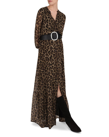 Flake Leopard Print Maxi Dress in Leopard