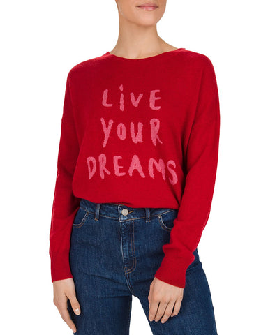 Sidney Live Your Dreams Cashmere Sweater in Red