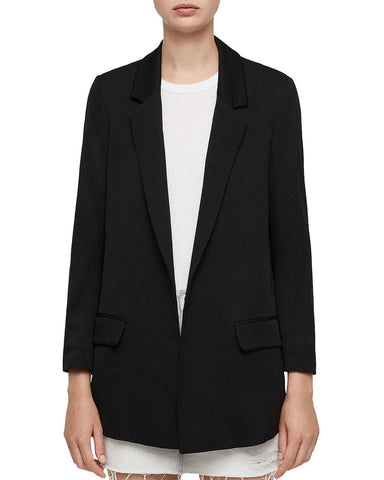 Aleida Open-Front Blazer in Black