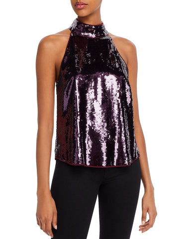 Lei Lei Sequined Top in Plum