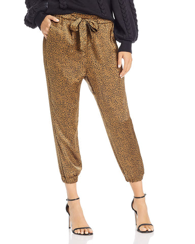 Sequoya Leopard Print Jogger Pants in Lacquer