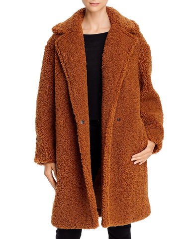 Nita Teddy Jacket in Brown