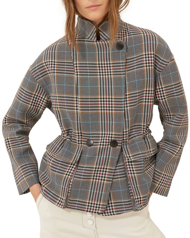 Beth Plaid Coat in Multicolor
