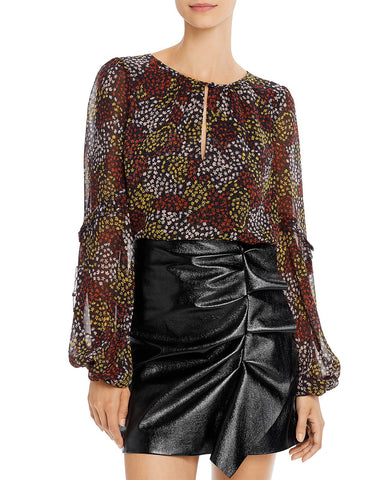 Baltasar Printed Silk Blouse in Midnight
