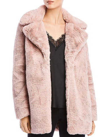 Paley Faux Fur Coat in Antique Rose