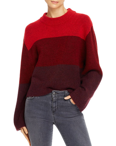 Miller Love Color-Blocked Sweater in Red Multi