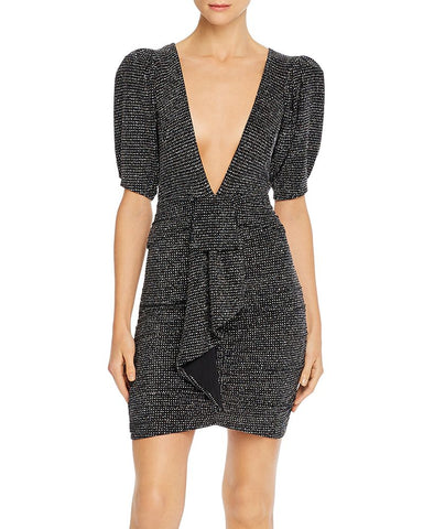 Margaux Glitter Mini Dress in Metallic