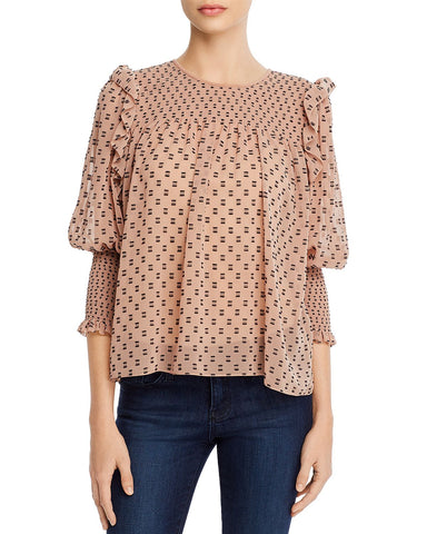 Jamila Embroidered Top in Ginger