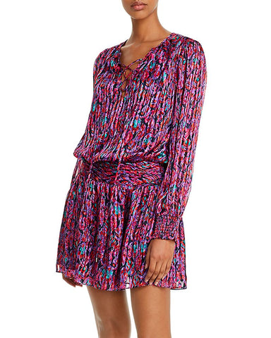 Gessie Printed Mini Dress in Passion Combo