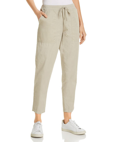 Misty Twill Ankle Pants in Pebble