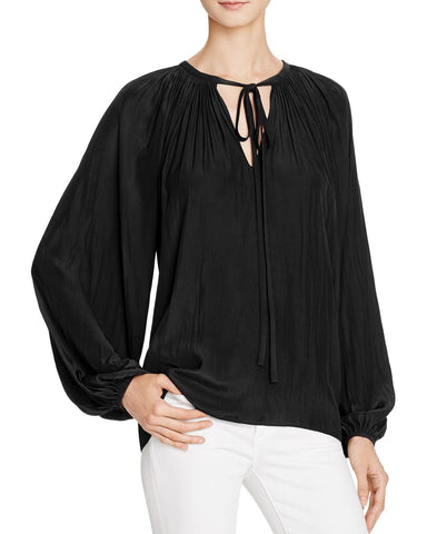 Paris Poet Top in Black