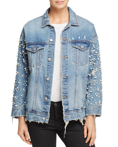 Embellished Denim Jacket in Denim