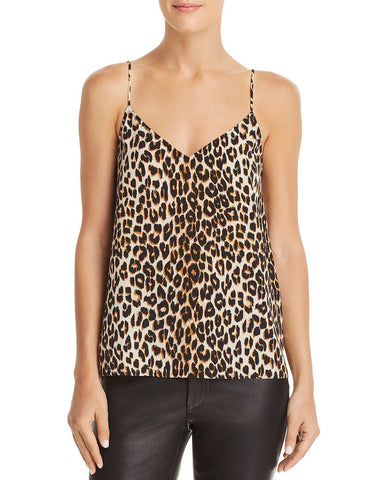 Layla Printed Silk Camisole Top in Natural