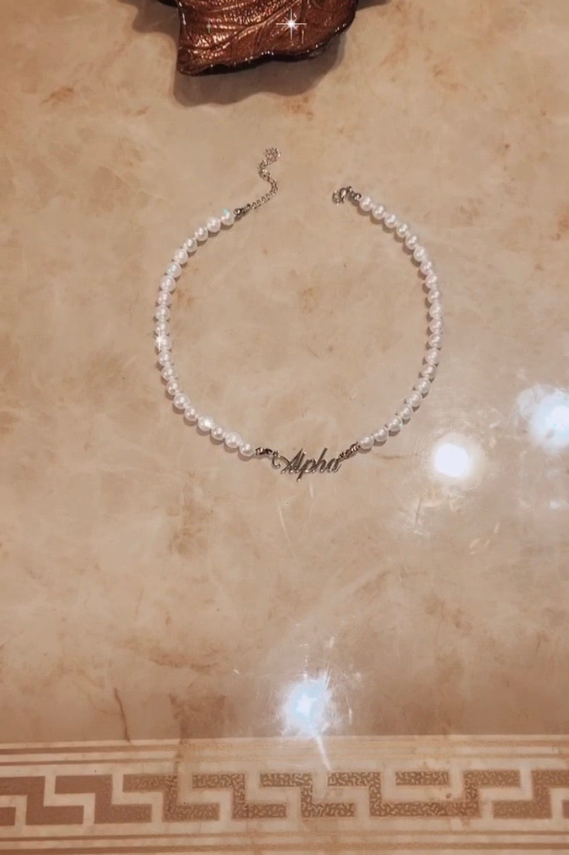 Alpha Pearl Necklace