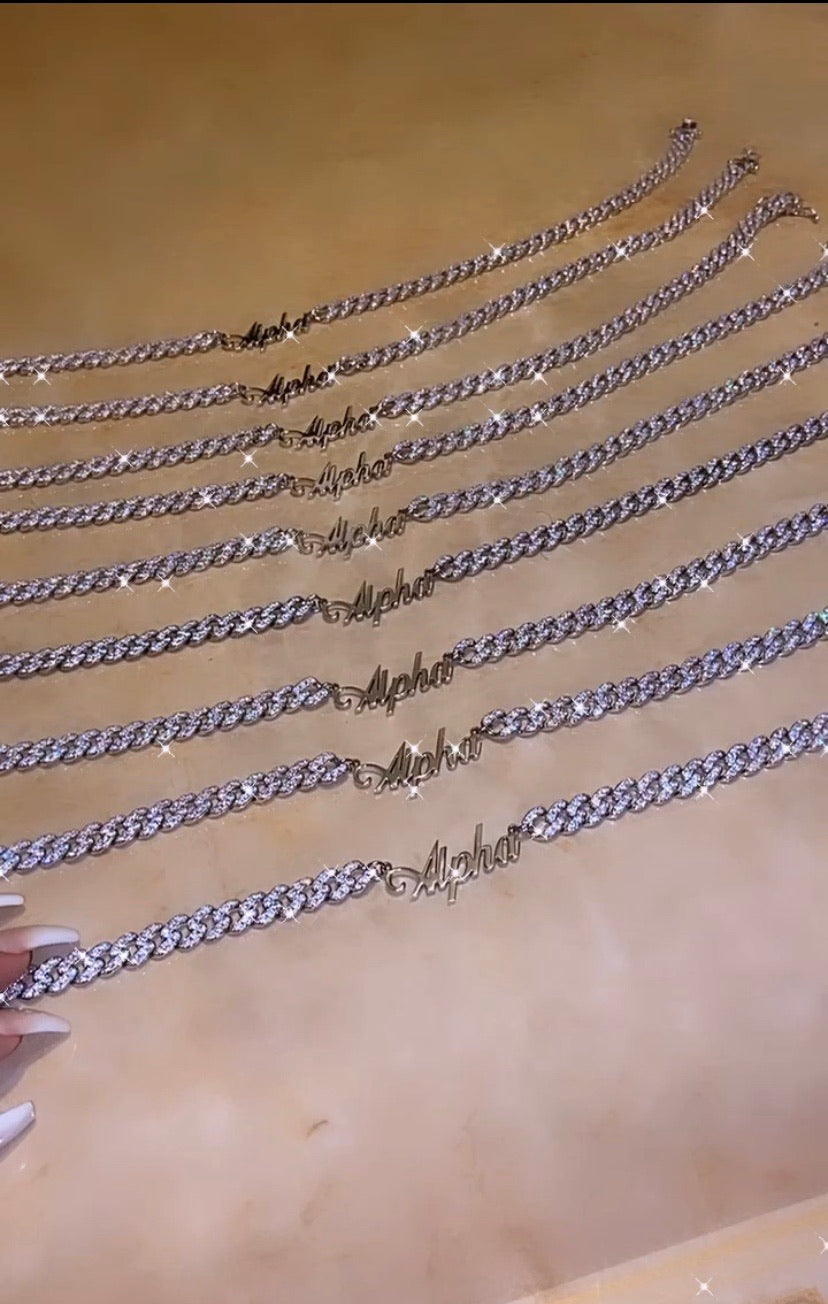 Alpha Cuban Link in Silver