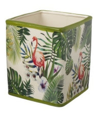 Load image into Gallery viewer, Tropical flamingo ceramic plant pot - Small