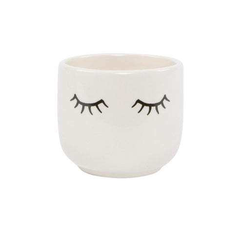 Sass and Belle Eyes Shut Mini Plant Pot