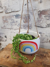 Load image into Gallery viewer, Sass and Belle chasing Rainbow 🌈  Hanging indoor plant pot